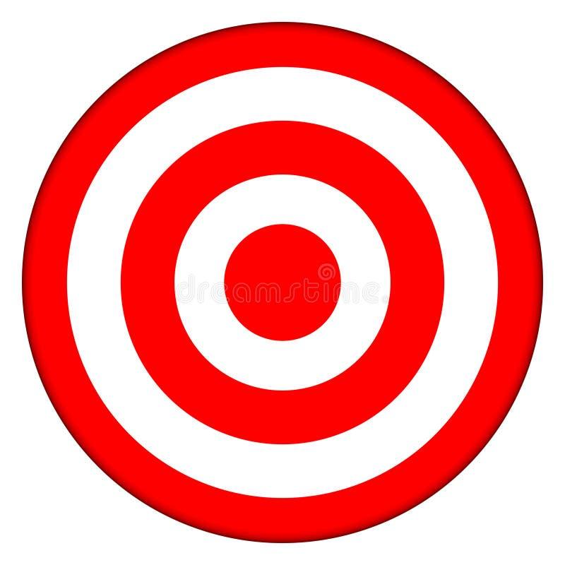 Ziel-Bullauge-Stier-Auge stock abbildung