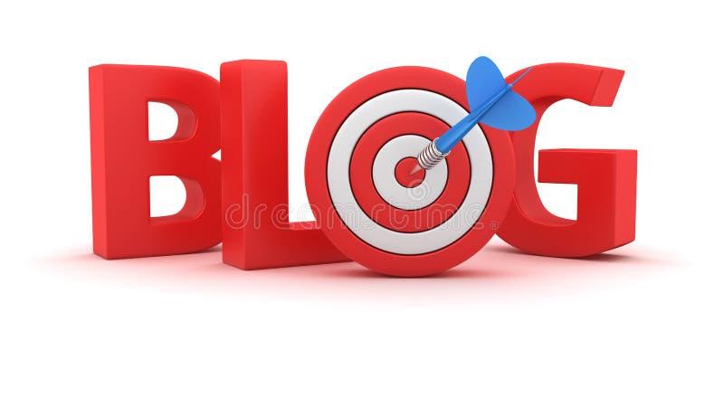 Ziel für das Blog vektor abbildung