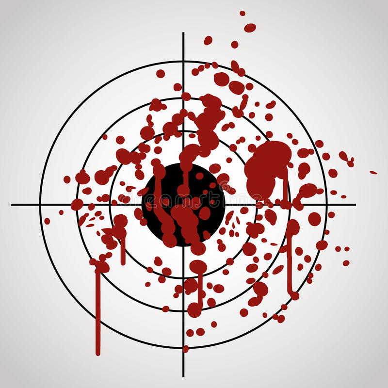 Ziel gespritzt mit Blut vektor abbildung