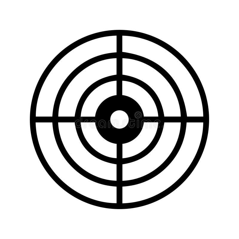 Ziel-Ikone/Pfeil-Ikone vektor abbildung