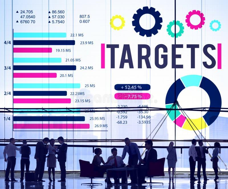 Ziel-Leistungs-Ziel-Erfolgs-Aspirations-Konzept stockbilder