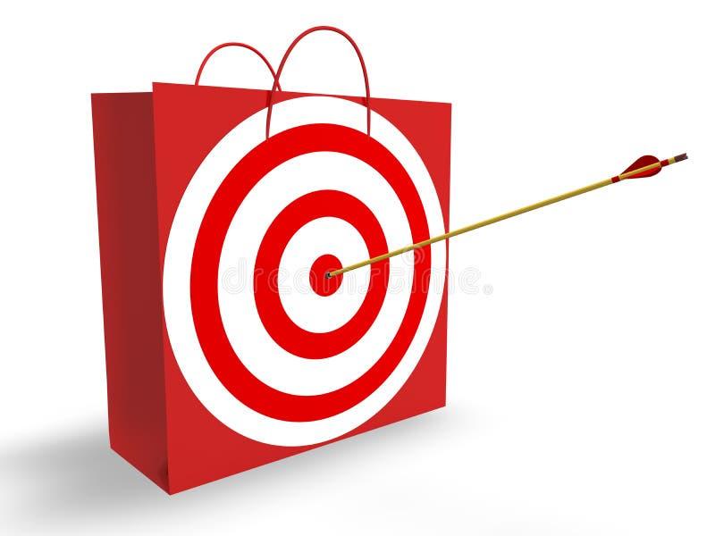 Ziel-Markt lizenzfreie abbildung
