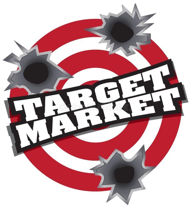 Ziel-Markt stock abbildung