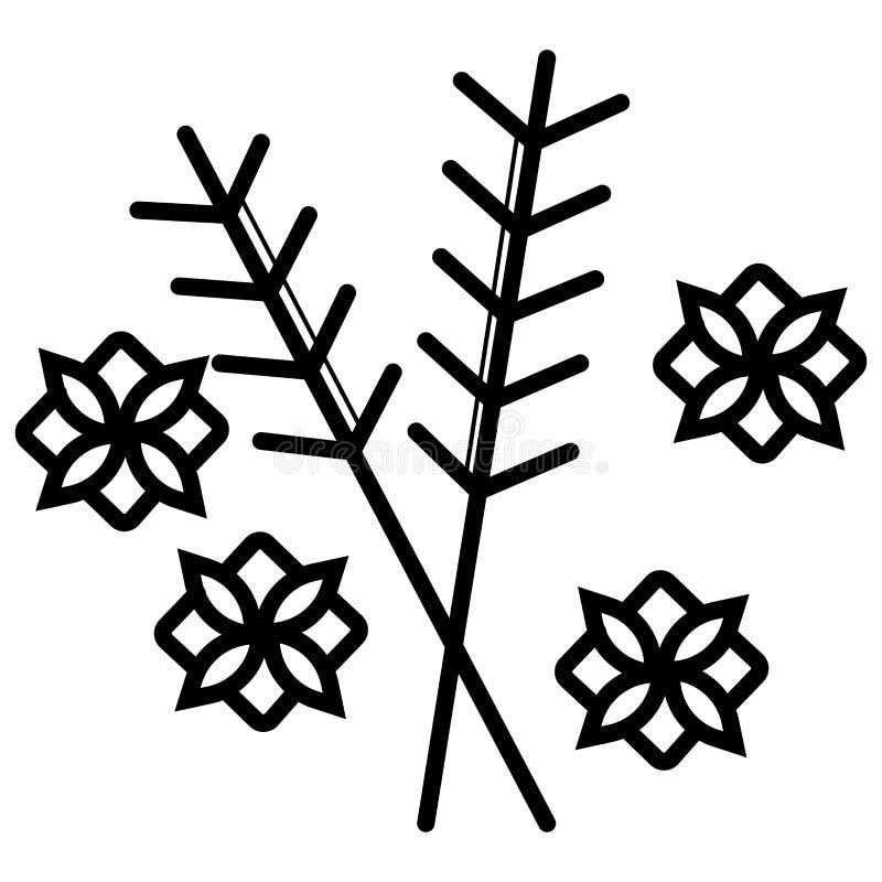 Zielarski ikona wektor ilustracji