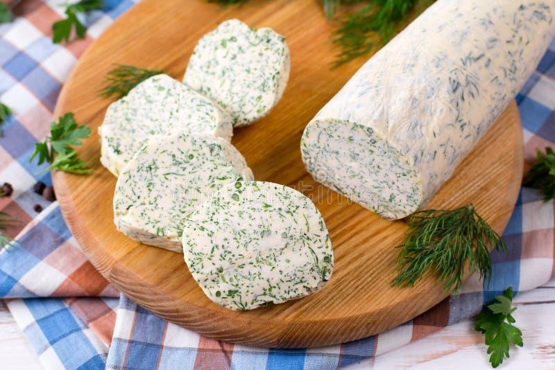 Zielarski masło z ziele i pikantność obrazy stock
