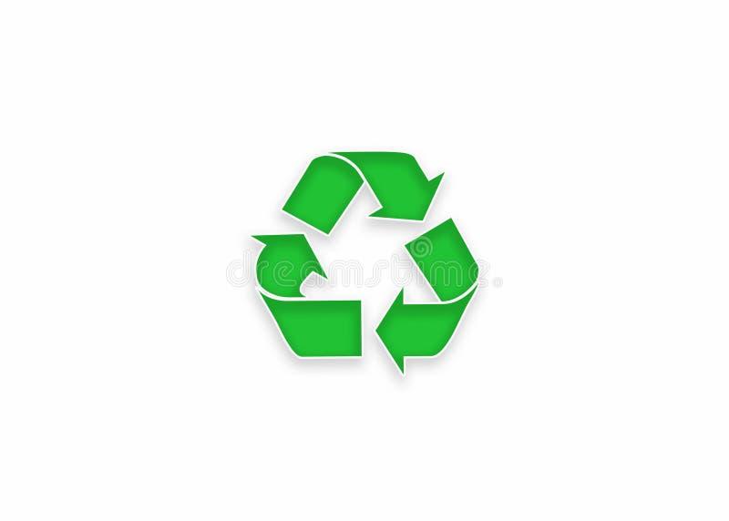 Zieleń Przetwarza ikona szyldowego logo na białym tle zdjęcie stock