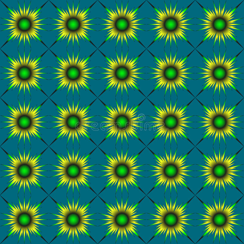 Zieleń abstrakta kwiaty royalty ilustracja