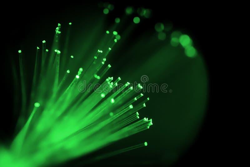 Zieleń barwiący włókno światłowodowe kabel zdjęcia stock