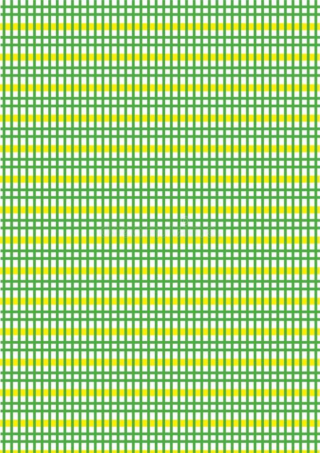 Zieleń i kolor żółty w kratkę zdjęcia stock
