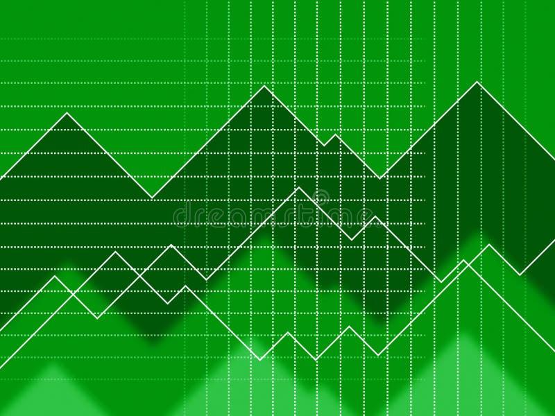 Zieleń kolców tło Znaczy siatka dane I zygzag ilustracji
