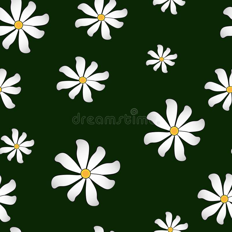 zieleń kwiecisty wzór royalty ilustracja
