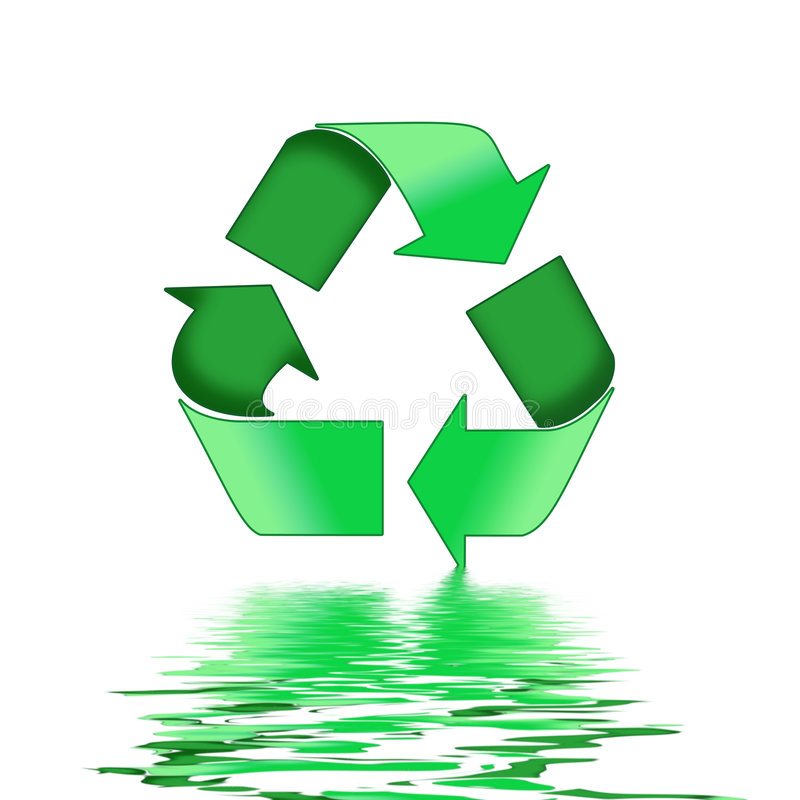 zieleń przetwarza symbol ilustracji