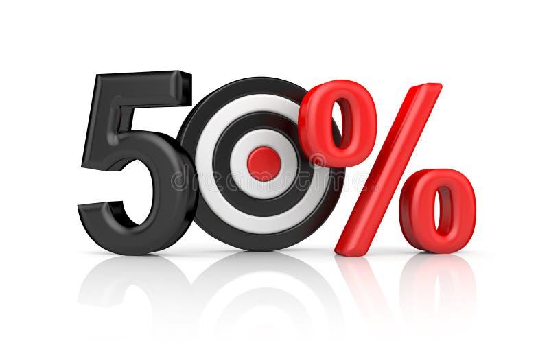 Ziele bilden die Zahl 50 Prozent lizenzfreie abbildung