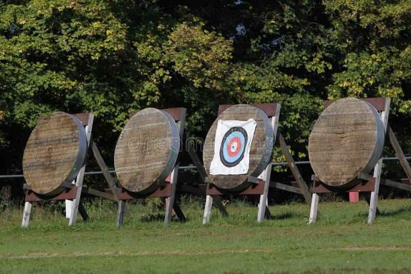 Ziele für Bogenschießen stockfotografie
