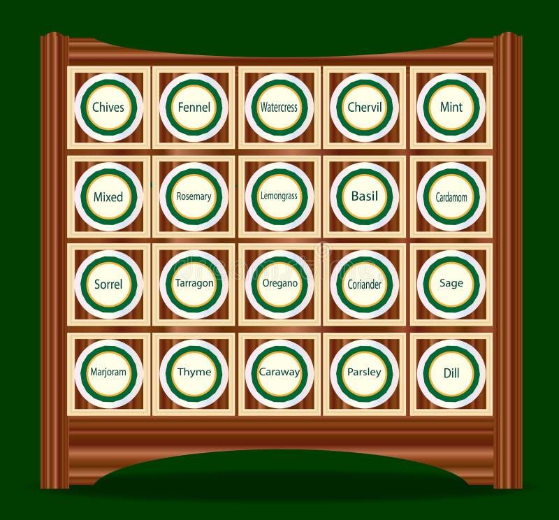 20 ziele W stojaku royalty ilustracja