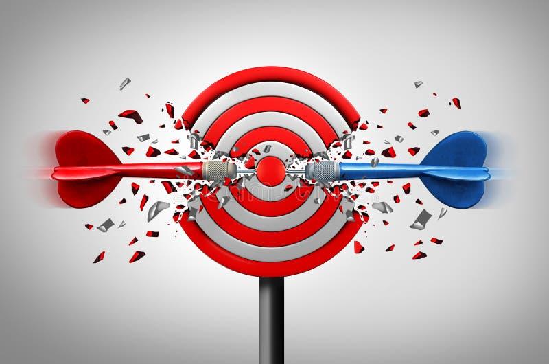 Ziele zusammen erreichen stock abbildung