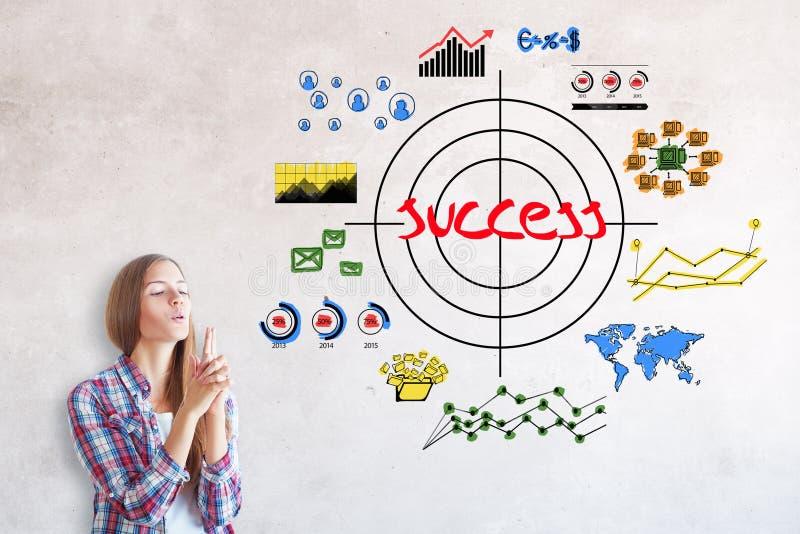 Zielen des Konzeptes stockfotos