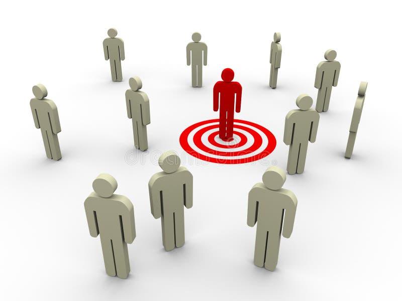 Zielen des Kunden stock abbildung
