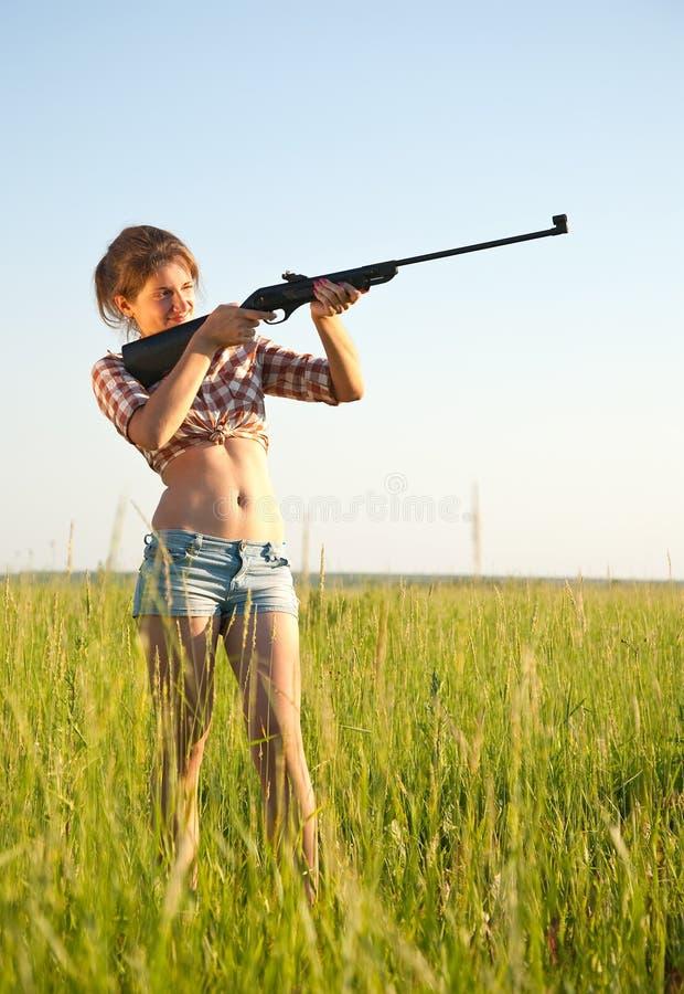 Zielen des Mädchens stockfotos