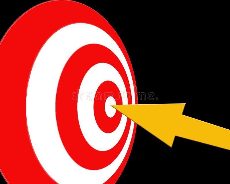 Zielen des Ziels stock abbildung