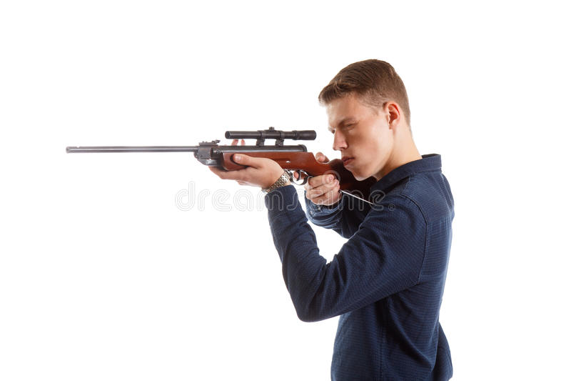 Download Zielen eines Gewehrs stockbild. Bild von mafia, marksman - 90225105