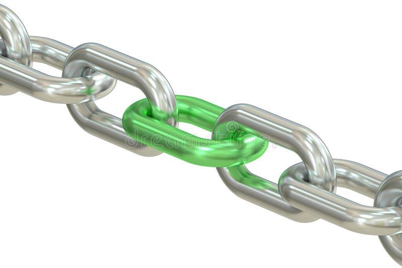 zieleni łańcuszkowy połączenie ilustracji