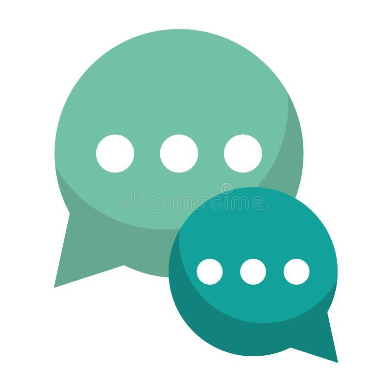 Zieleni bąbel rozmowy dialog gawędzenia socjalny środki ilustracji