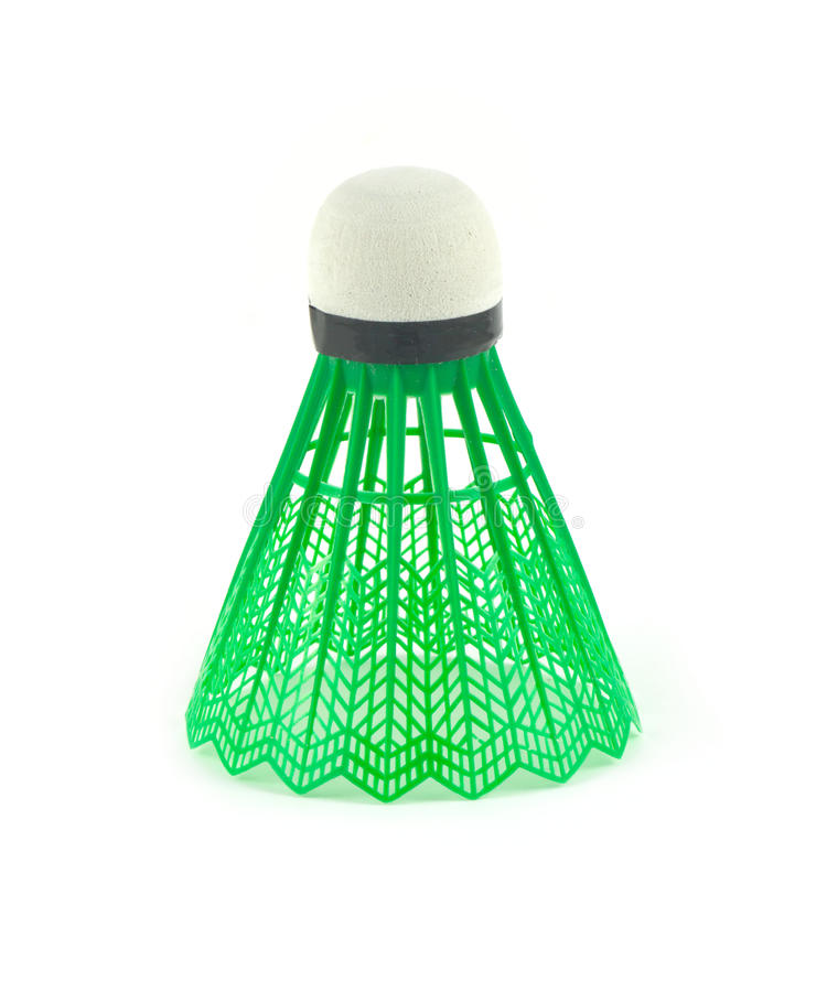 Zieleni badminton shuttlecocks obrazy royalty free