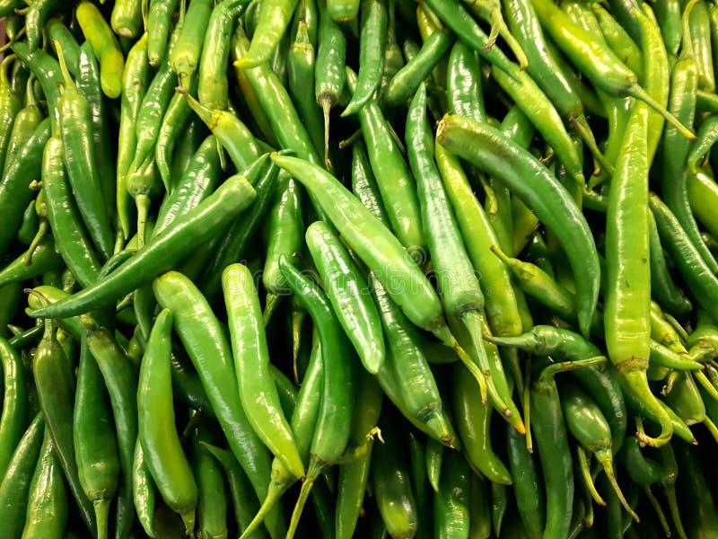 Zieleni chillies zdjęcie royalty free