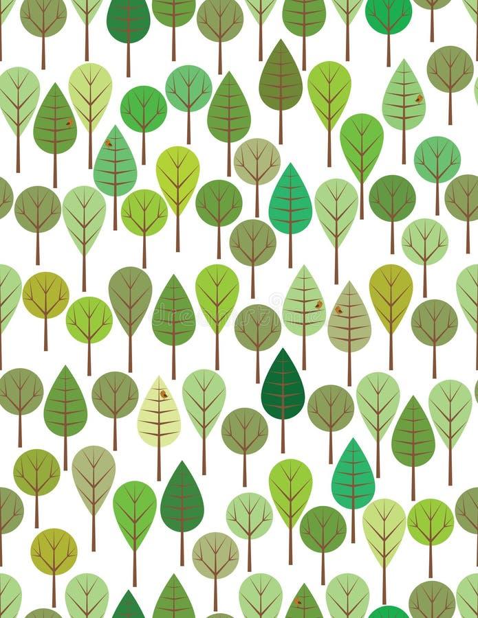 zieleni drewna ilustracji