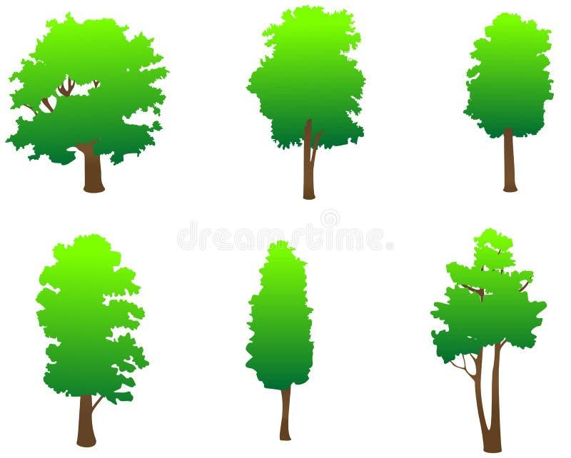 zieleni drzewa royalty ilustracja