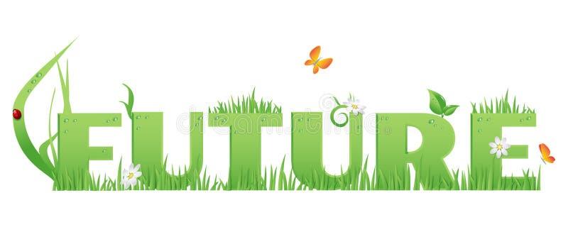 Zieleni (Eco) przyszłość ilustracja wektor