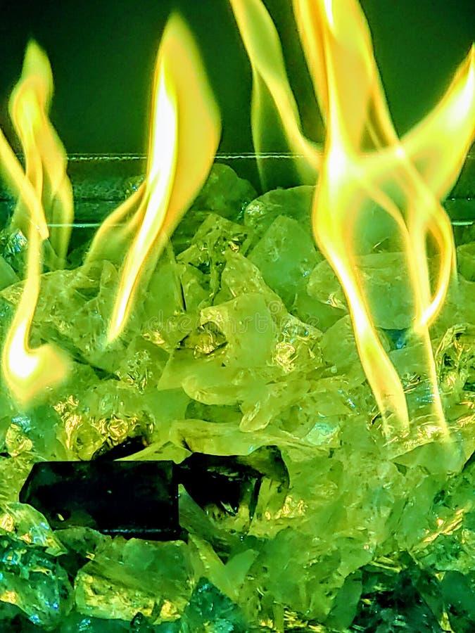 zieleni flmaes obrazy royalty free