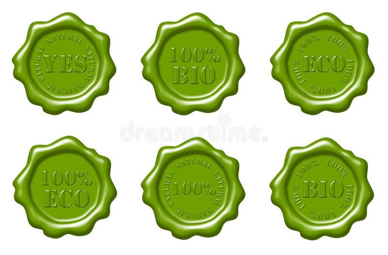 Download Zieleni Foki Ustawiający Wosk Ilustracji - Ilustracja złożonej z insygnia, guma: 13342259