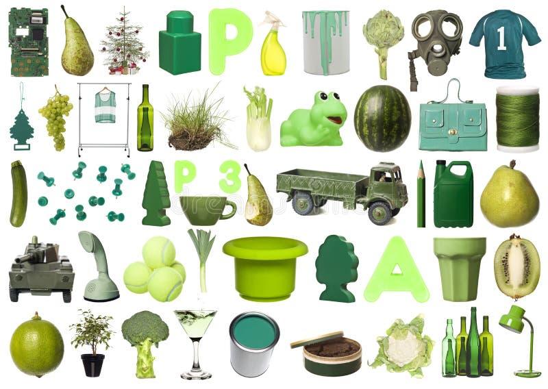 zieleni grupowi przedmioty zdjęcie stock