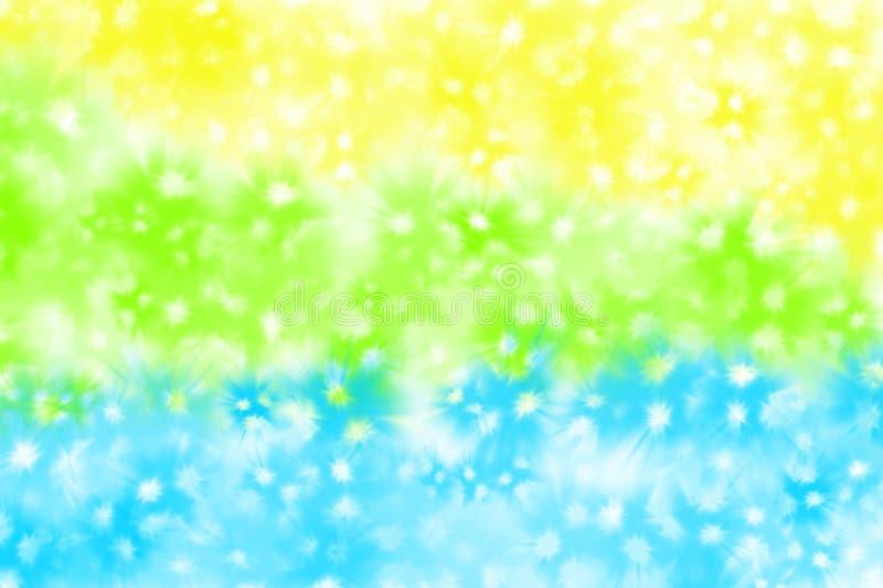 Zieleni, koloru żółtego, błękitnej i białej tło dekoracja, royalty ilustracja