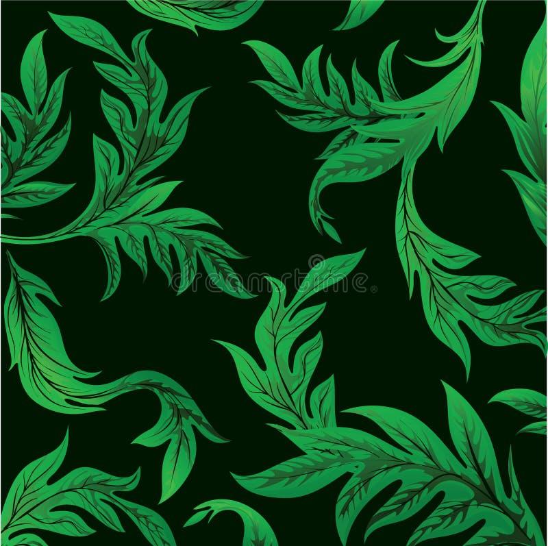zieleni liść royalty ilustracja
