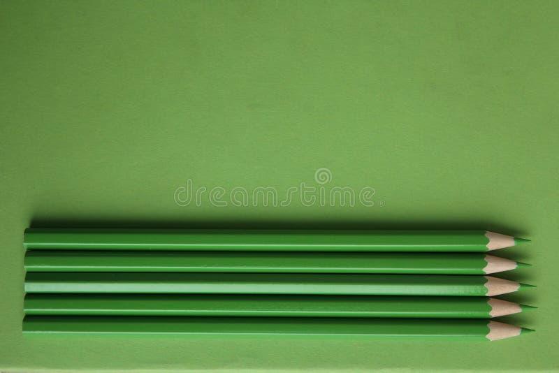 zieleni ołówki fotografia stock
