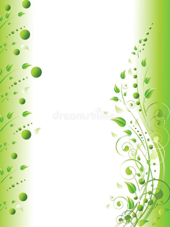 zieleni odbitkowa kwiecista przestrzeń ilustracja wektor