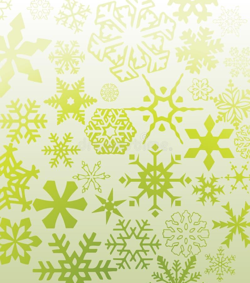 zieleni płatek śniegu ilustracja wektor