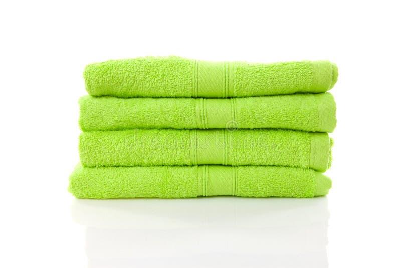 zieleni wapna stosu ręczniki obraz royalty free
