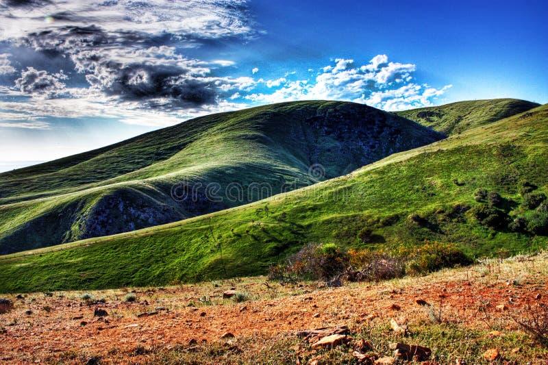 zieleni wzgórza obrazy stock