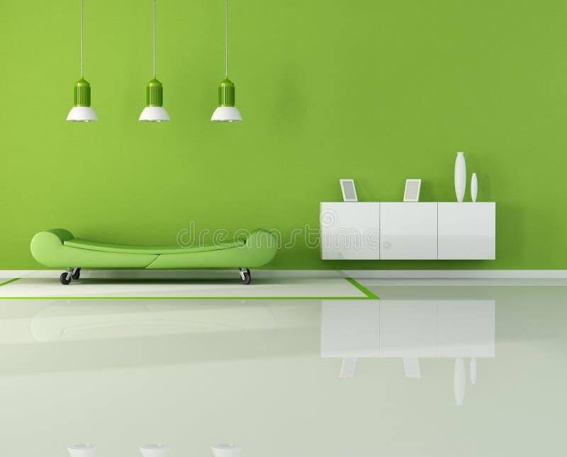 zielenieje żywego pokój ilustracji