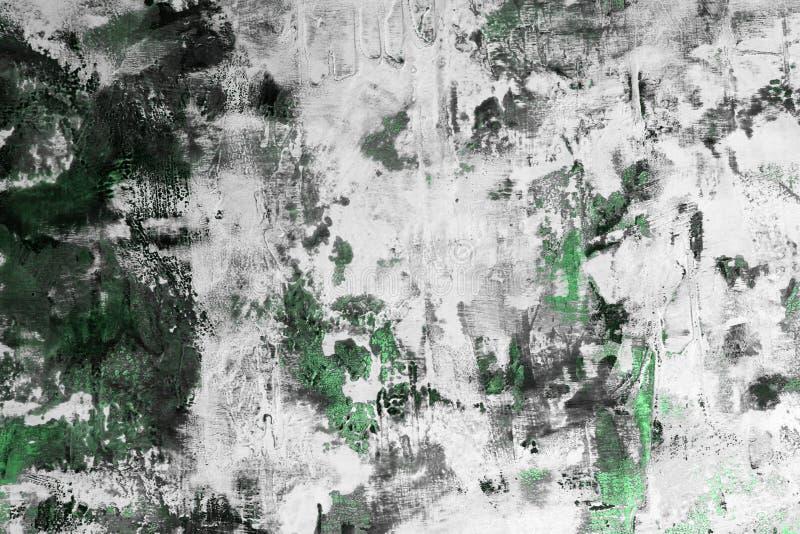 Zielenieje bardzo dużo upaćkaną materialną farby teksturę - piękny abstrakcjonistyczny fotografii tło obraz stock