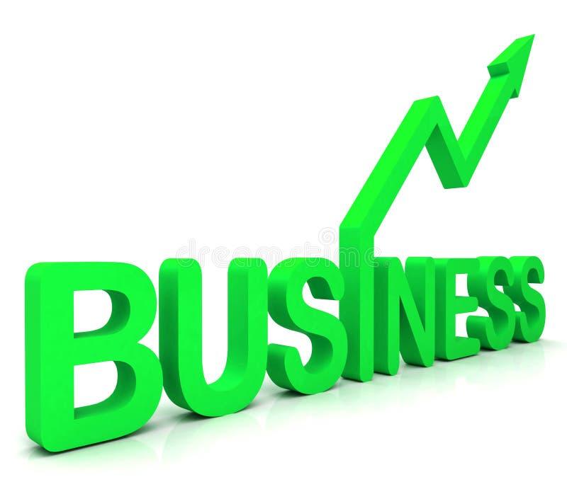 Zielenieje Biznesowego Słowa Przedstawienie Handel royalty ilustracja