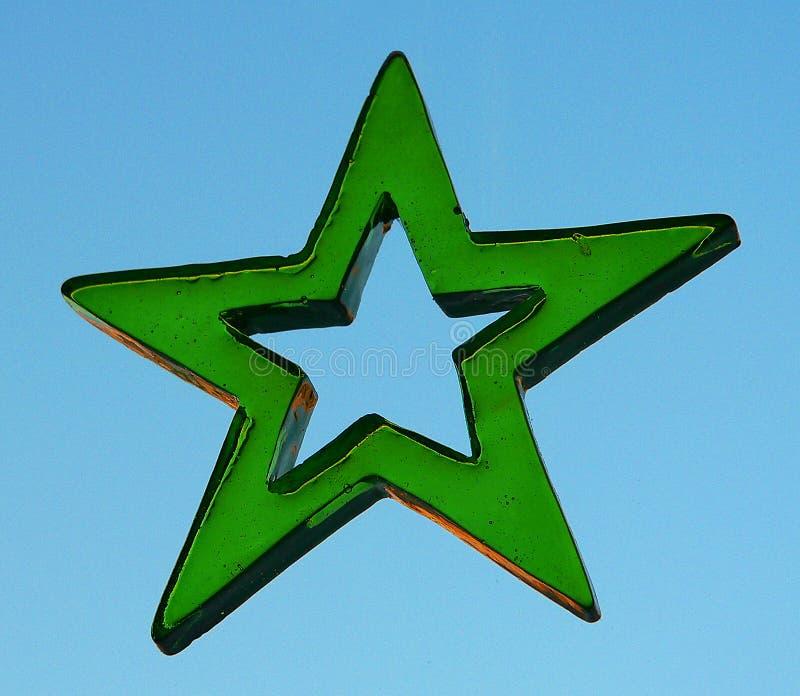 Zielenieje gwiazdę zdjęcia royalty free