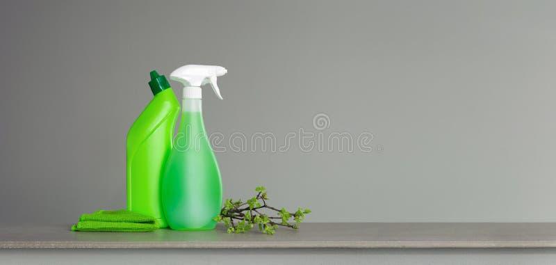 Zielenieje set dla wiosny czyści z młodymi wiosna liśćmi i few gałązki fotografia stock