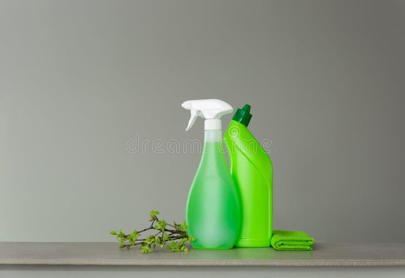 Zielenieje set dla wiosny czyści z młodymi wiosna liśćmi i few gałązki zdjęcie stock