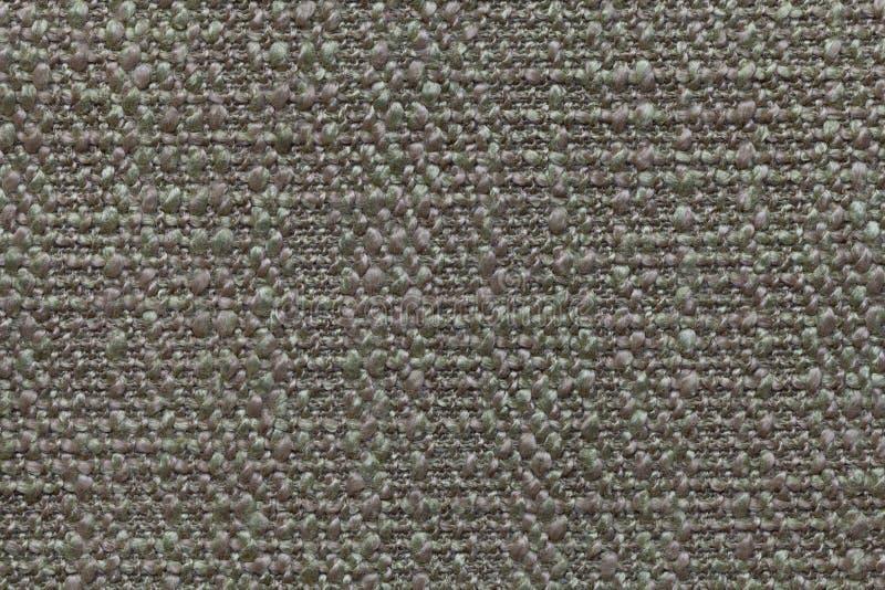 Zielenieje trykotowego woolen tło z wzorem miękka część, wełnisty płótno Tekstura tekstylny zbliżenie fotografia stock