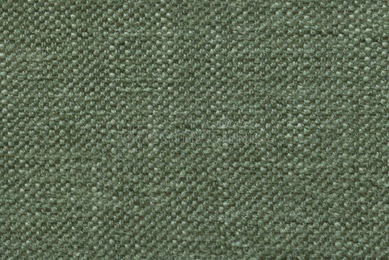 Zielenieje trykotowego woolen tło z wzorem miękka część, wełnisty płótno Tekstura tekstylny zbliżenie zdjęcia royalty free